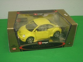 Bburago Volkswagen New Beetle 1998 Yellow Gold Collection 1-18 Die Cast Car - $28.01