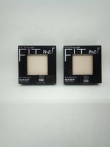 2 Pc Lot Maybelline Fit Me Set + Smooth Pressed Powder 110 Porcelain Sealed New - $13.50