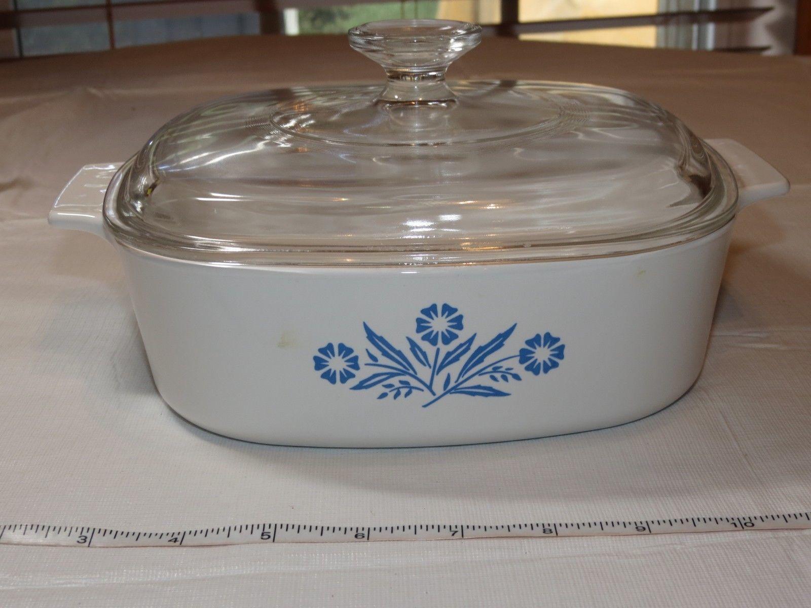Pyrex Corning Ware Cornflower Blue Sauce Pan Casserole