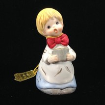 Merri-Bells Jasco Choir Boy Hand Bell Bisque Porcelain Vintage 1978  - $12.19