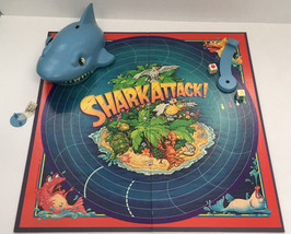 vintage shark attack game pieces board shark dice craft supplies - $12.17