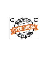 Open House Yard Sign Left Arrows w/Stakes Weather Resistant Real Estate ... - $21.68