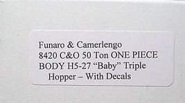 "F&C HO  C&O 50 Ton H5-27 "" baby "" tripple Hopper Kit 8420 image 3"