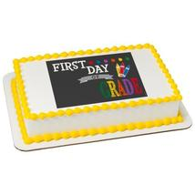 First Day Edible Cake Topper Image - $9.99+