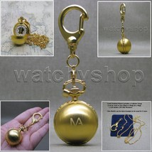 GOLD Women Pendant Watch Ball Design 2 Ways Key Chain and Necklace Gift ... - $14.49