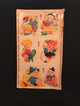 NOS 1950s Duro Decals Nursery Rhymes Humpty Dumpty Jack and Jill FREE SH... - $11.29