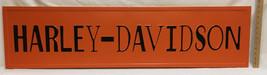 Harley Davidson Sign Metal Steel Wall Hanging Black & Orange 48x12 Motor... - $48.50