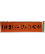 Harley Davidson Sign Metal Steel Wall Hanging Black & Orange 48x12 Motor... - $48.50