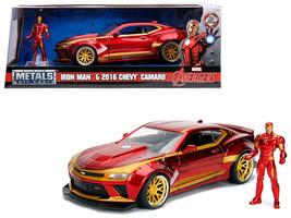 "2016 Chevrolet Camaro with Iron Man Diecast Figure ""Marvel"" Series 1/24 ... - $37.95"