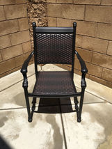 Outdoor Chairs Set Of 2 Cast Aluminum Patio Furniture Dining Wicker Balcony image 7