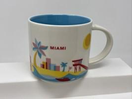 Miami Starbucks Coffee You Are Here YAH Collection Mug 14 oz 2016 - $18.80