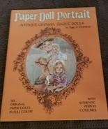 Vintage  Uncut Paper Doll Portrait Antique German Bisque Dolls Peggy Jo ... - $12.73