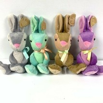 4 Animal Adventure Booboo Plush Bunnies NWT - $28.49