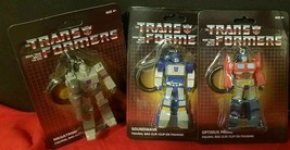 3x THREE New Transformers Plastic Bag Clips Megatron Optimus Prime + Soundwave   - $16.66