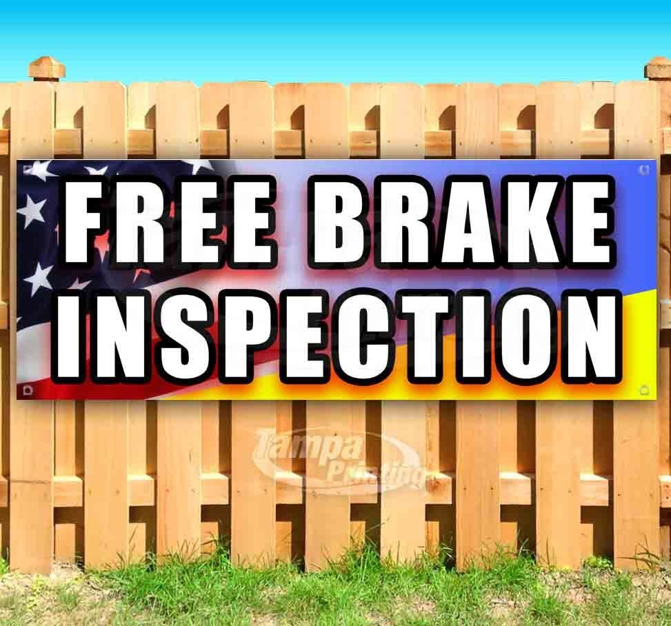Primary image for FREE BRAKE INSPECTION Advertising Vinyl Banner Flag Sign Many Sizes MECHANIC