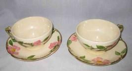 NEAT Pair FRANCISCAN Desert Rose Cups Saucers - $22.09