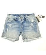 Miss Me Women's Mid Short Shorts Denim Jeans Lt Blue Size 26 $89.50 - $77.25