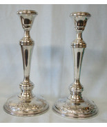 "Wallace Grand Baroque Tall 9 7/8"" Sterling Candle Sticks Pair, 3 sizes - $692.89"