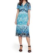 MARKS & SPENCER By PER UNA Lagoon Crinkle Midi Dress BNWT - $44.76