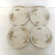 vintage homer laughlin china King Charles floral pattern four  dessert p... - $24.70