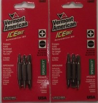"""Vermont American 16482 2 Sided 2"""" Phillips & Slotted Screw Tips Asst 2-3pks USA - $2.48"""