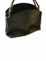 Hogan Women Green Leather Hobo Shoulder Purse Bag Made in Italy image 2