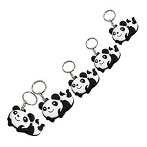 Set of 5 Lovely Panda Superstore Key Chain Portable Car Keychain Key Rings