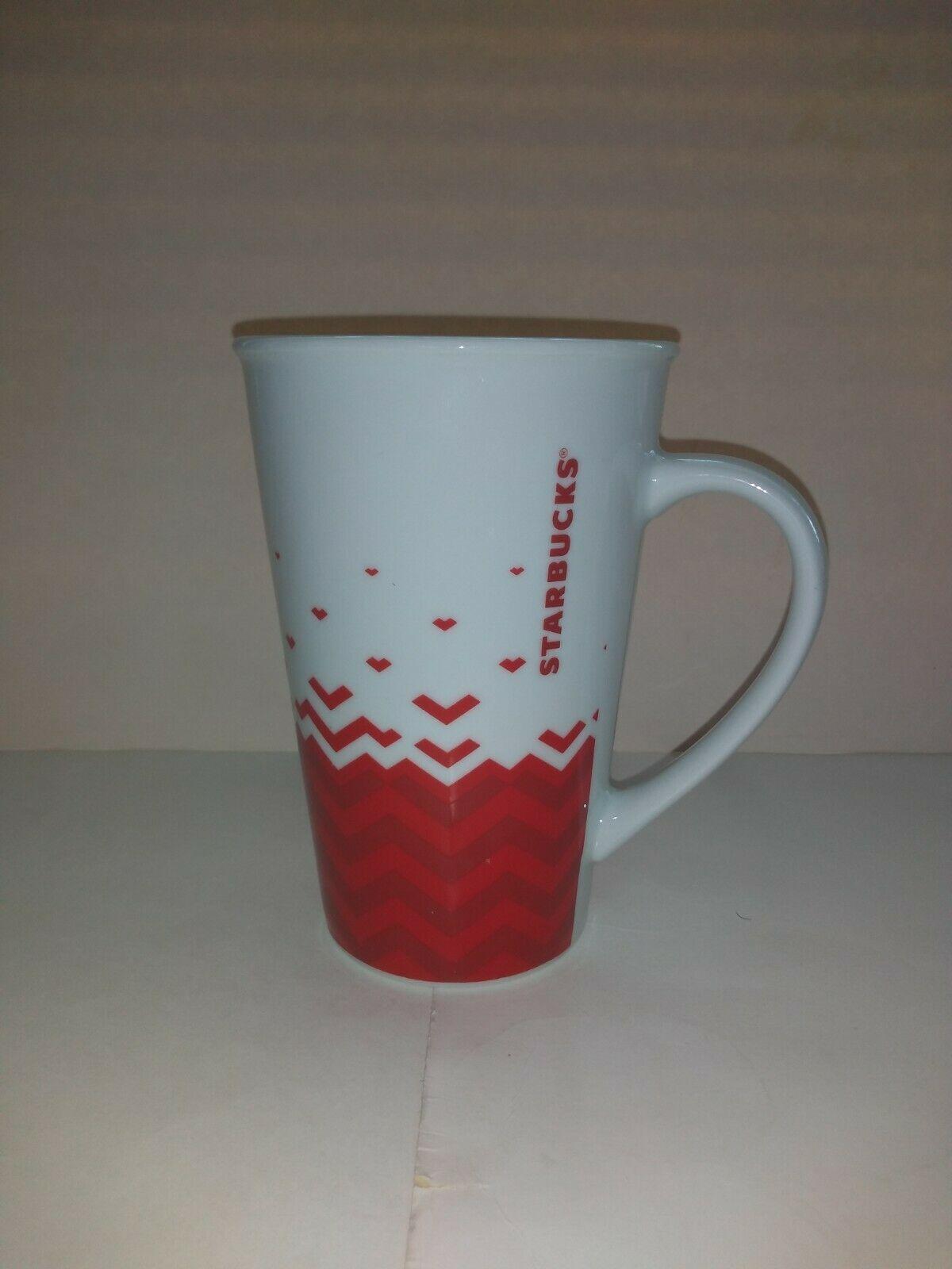 Starbucks 2013 Red White Hearts Valentines Day Mug 22 OZ  image 6