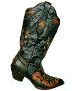 Corral Women Distressed Brown Leather Lizard Inlay Snip Toe Cowboy Boots... - $157.25