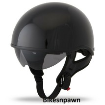 New XL Gloss Black Fly Racing DOT Approved .357 Motorcycle Half Helmet image 1