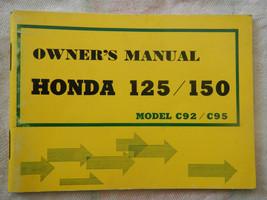 1963 1964 1965 1966 63 64 65 66 HONDA C92 C95 125 150 C492 C495 OWNER'S MANUAL - $54.78