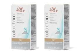 Wella-T27 Medium Beige Blonde Permanent Hair Colour - pack of 2 - $27.95