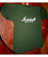 MARSHALL AMPLIFCATION~ T-Shirt Cotton XL size~ Fits like a medium~Green ... - $11.43