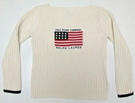 Ralph Lauren Girls Full Cotton Sweater Size Medium - $14.99