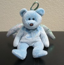 Ty Beanie Baby Halo The Angel Bear Dyed Blue NO TAG - $4.45