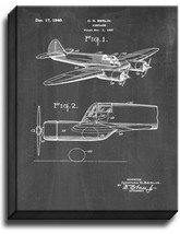 Airplane Patent Print Chalkboard on Canvas - $39.95+