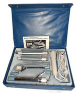 VTG Sears Blue Deluxe Mini/Maxi Professional Styling Curling Iron Brush ... - $49.99