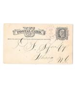 UX5 Havana NY DPO to Ithaca 1879 Double Ring CDS Postmark Lovely Cursive... - $12.95