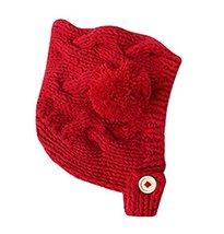 Newborn Baby Warm Hat Cap Baby Hat RED, 3-18 Months image 2