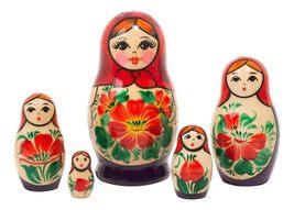 "Nolinsk Babushka Doll 5pc./3.5"" - $22.00"