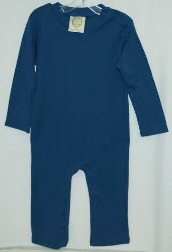 Blanks Boutique Boys Long Sleeved Romper Color Blue Size 2T