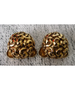 Vintage MUSI Round Shoe Clips - Gold Tone - Signed Musi with US Pat No. ... - $14.00