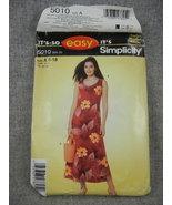 Mumu style Dress Simplicity 5010  in 2 lengths Summer Dress Size 8-18 E... - $10.00