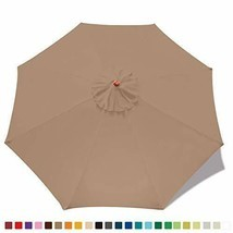 Patio Umbrella Replacement Canopy Market Table Umbrella Canopy with 8 Ribs - $25.73+