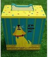 Up Country Treat Box  Hand Painted Collection  I'm Beggin' Ya Treat Box ... - $28.84