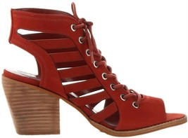 Vince Camuto Nubuck Lace-Up Heeled Sandals-Chesten Spice 8M NEW A347375 - $36.61