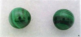 Malachite Gemstone 6mm Stud Earrings - $9.02