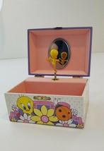 Vintage 1999 Tweety Bird Looney Tunes Wind Up Musical Jewelry Box - $17.41
