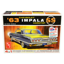 Skill 2 Model Kit 1963 Chevrolet Impala SS Hardtop 4 in 1 Kit 1/25 Scale... - $52.87