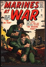MARINES AT WAR #7 ATLAS COLAN SINNOTT STORY ART 1957 VF - $74.50